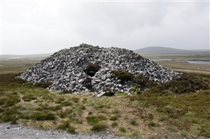 Barpa Langais, a neolithic chambered cairn, North Uist